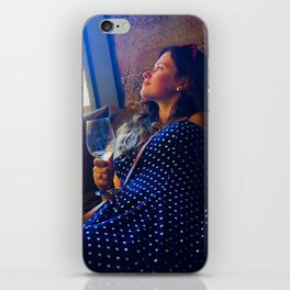 Girl drinking wine in Napa Valley wine country iPhone Skin