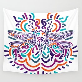 Colorful Fly Wall Tapestry