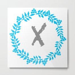 X White Metal Print