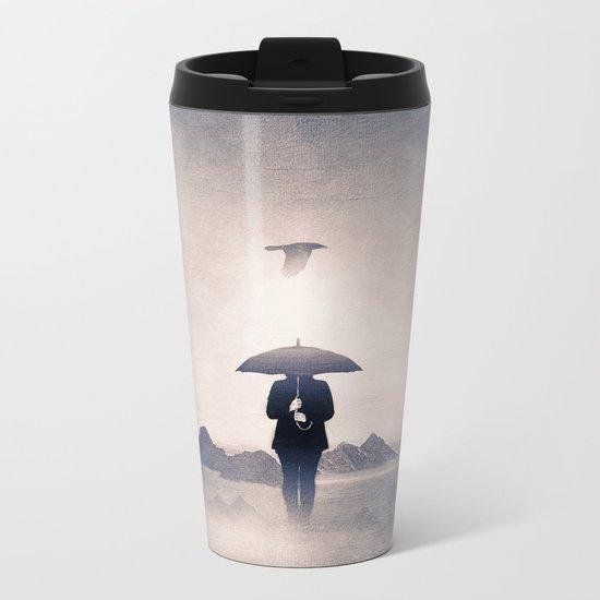 Waiting for the rain (colour option) Metal Travel Mug