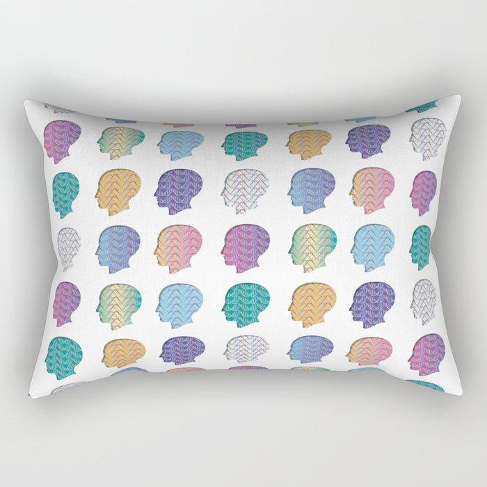 DNA_Heads Rectangular Pillow