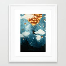 Where all the wishes come true Framed Art Print