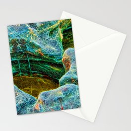 Abstract rocks with barnacles and rock pool Stationery Cards