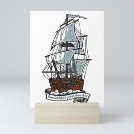 Ocean Adventurer - Let your dreams set sail Mini Art Print