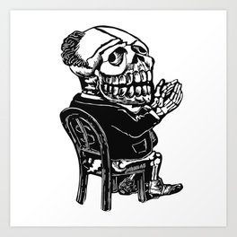 Capitalist Skull Art Print