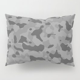 Camouflage Gray Pillow Sham