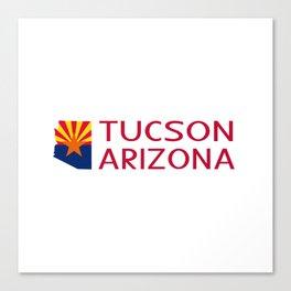 Arizona: Tucson (State Shape & Flag) Canvas Print