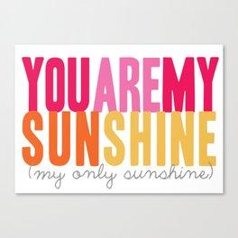 {sunshine-pink} Canvas Print