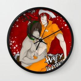 Inmates: Christmas Print 2014 Wall Clock
