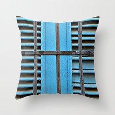 Caribbean Color Throw Pillow