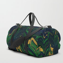 Rhapsody in Blue and Green and Gold Duffle Bag