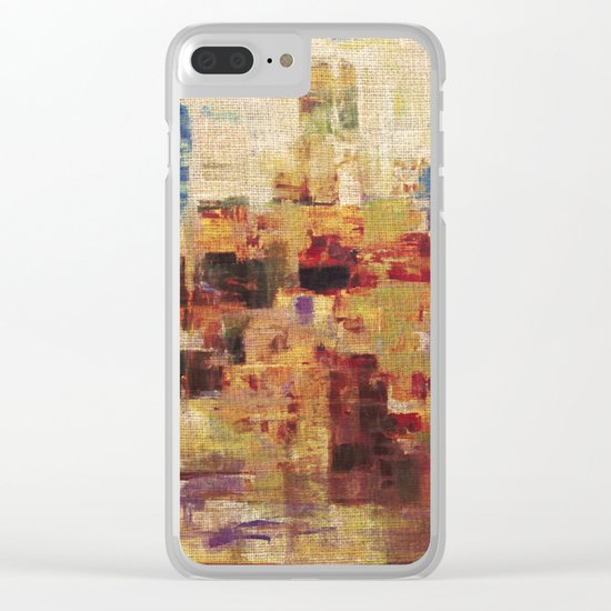 Sunset Town Clear iPhone Case