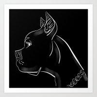 pitbull Art Prints featuring Pitbull by transFIGure