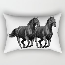 The Black Stallion Rectangular Pillow