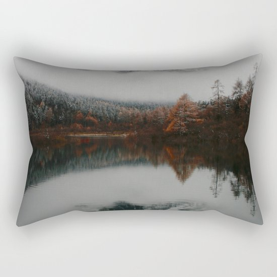 Beautiful Mountain # reflection Rectangular Pillow