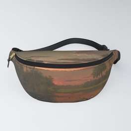 The Great Florida Sunset by Martin Johnson Heade Fanny Pack