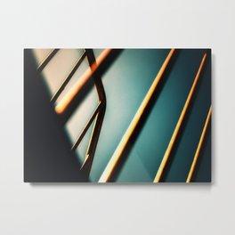 Vivid blue and yellow urban abstract Metal Print