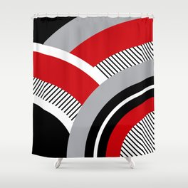 Colorful geometry 12 Shower Curtain