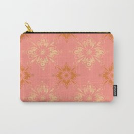 Ornament in Peach and Gold Carry-All Pouch