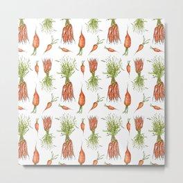 carrot pattern Metal Print