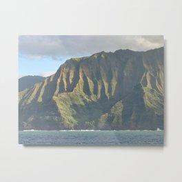 NA PALI MOUNTAIN - Kauai Hawaii 1 Metal Print