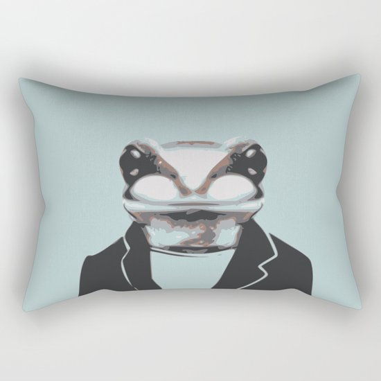 Frog internship animal portrait Rectangular Pillow