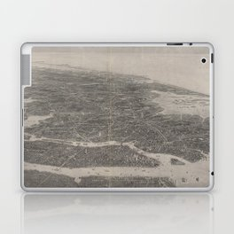 Vintage Pictorial Map of NYC and Long Island (1911) Laptop & iPad Skin