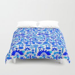 Exotic Garden Blue Duvet Cover