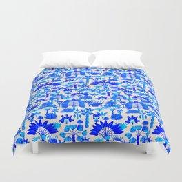 Exotic Garden Blue Duvet Cover