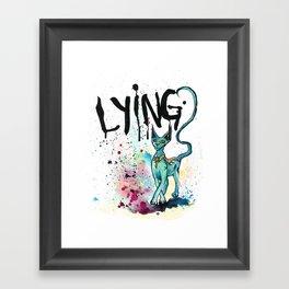 Lying Cat Framed Art Print