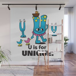 U is for Unique. Wall Mural