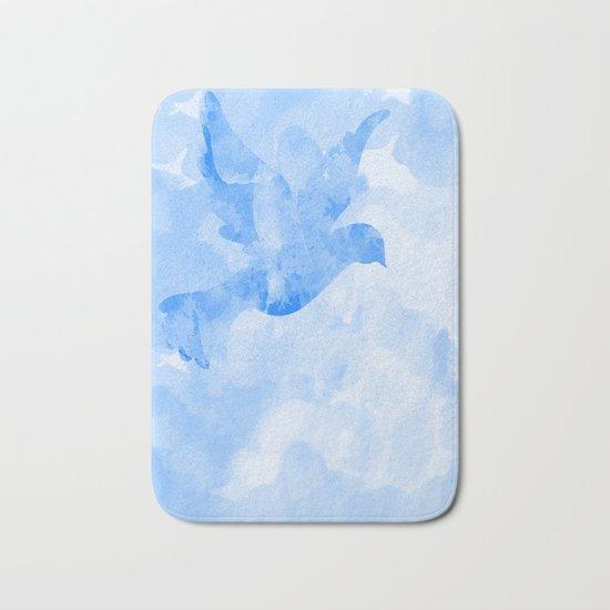 Abstract Flying Dove II Bath Mat