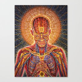 alex grey men tour 2019 nggateli Canvas Print