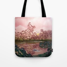 Pink Pond Evening Tote Bag