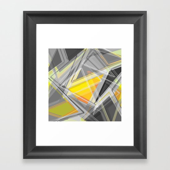∆Yellow Framed Art Print