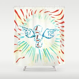 The Symbol Shower Curtain