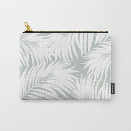 Palm Tree Fronds White on Rainwashed Maui Hawaii Tropical Graphic Design Carry-All Pouch