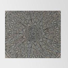 Circle of Life Mandala Brown and Blue Throw Blanket