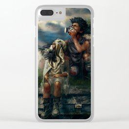 I Don't Belong Here Clear iPhone Case
