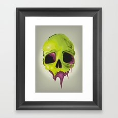Liquid Skull Framed Art Print