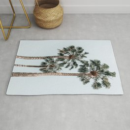 Palm Trees, Miami Summer Vibes, Minimalist Art Print, Minimal Pastel Colored Coconut Trees, Summer Time Poster, Palm Tree Print, Beach Vibes, Home Decor, Wall Art Print Rug