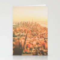 new york city Stationery Cards featuring New York City Sunset by Vivienne Gucwa