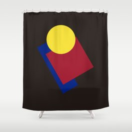Modern geometric abstract 6 Shower Curtain