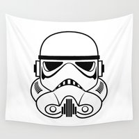 stormtrooper Wall Tapestries featuring Stormtrooper by Nicole Dean
