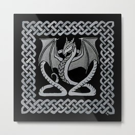 White Dragon Metal Print