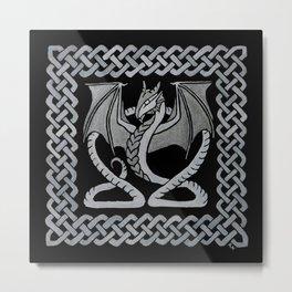 White Dragon Metal Print