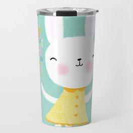 Dancing Garden Bunny Travel Mug