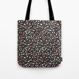 Leopard Print Gray and Rose Gold Tote Bag
