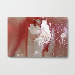 Red Curtain Metal Print