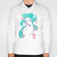 pinup Hoodies featuring Blue pinup by MissPaty